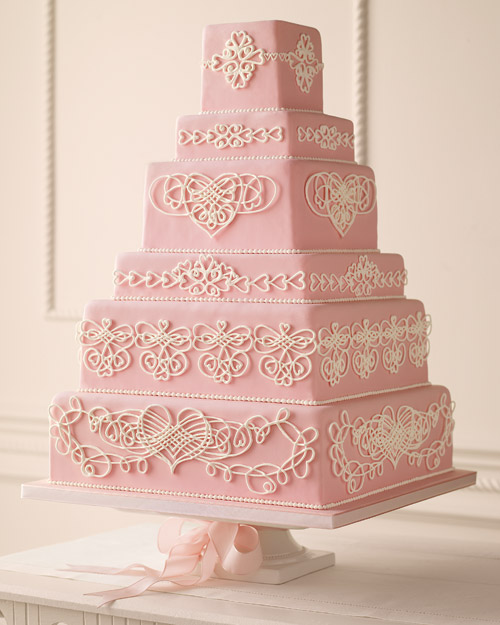 Heart Wedding Cake