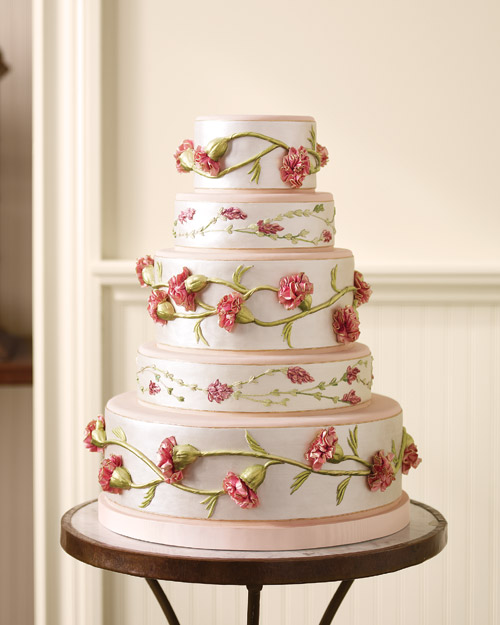 Victorian Silk Wedding Cake