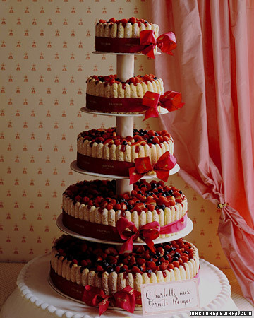 Red Charlotte Cake