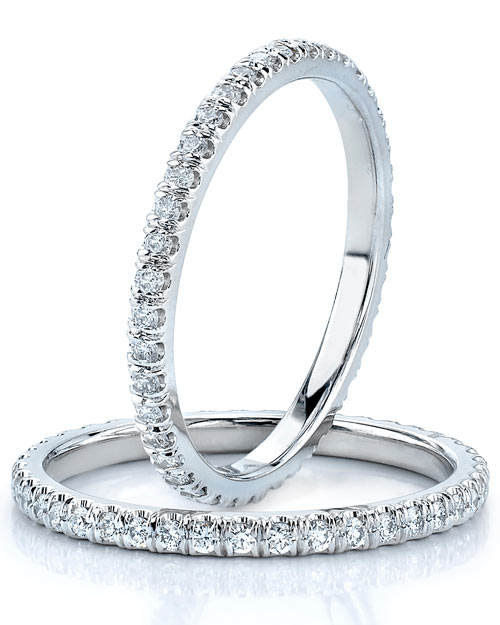 Diamond Pave Wedding Bands
