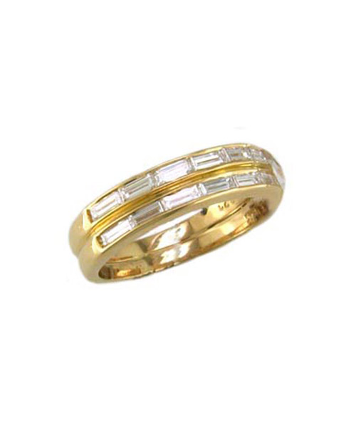 Gold Baguette Wedding Band