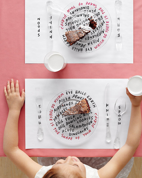Children's Table Place Mat