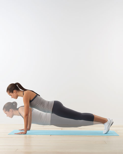 Pushups: for abs, chest, and arms