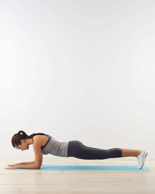 Forearm plank: for abs and shoulders
