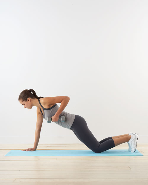 Plank row: for arms and core