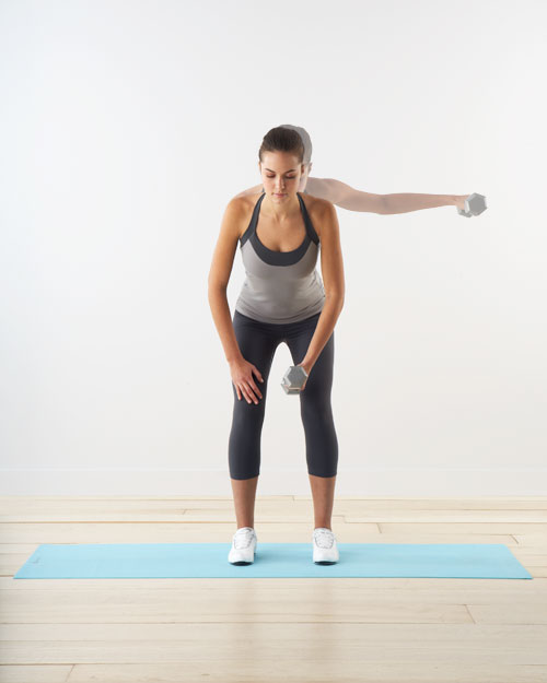 Reverse fly: for shoulders, abs, and back