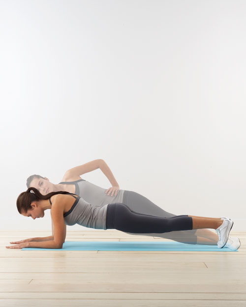 Twisting plank: for core and shoulders