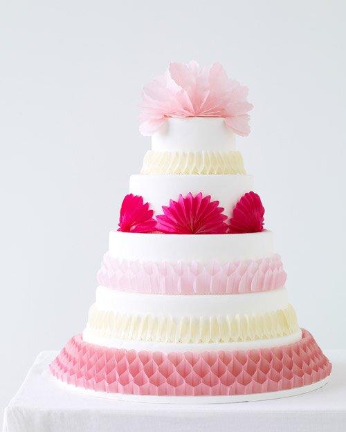 Peachy Pop Up Paper Cake Decorations Martha Stewart Weddings Funny Birthday Cards Online Overcheapnameinfo