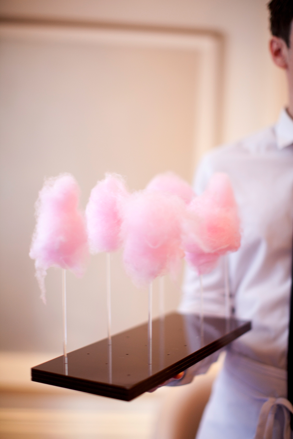 pink bridal shower cotton candy