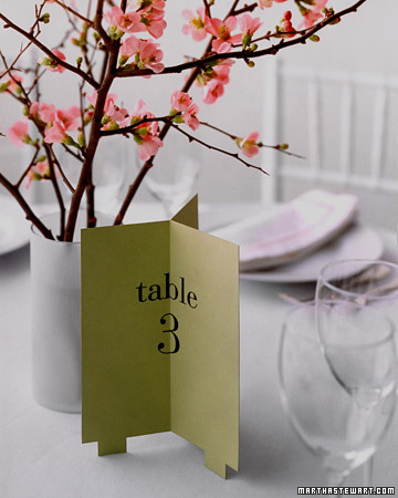 Trifold Table Number