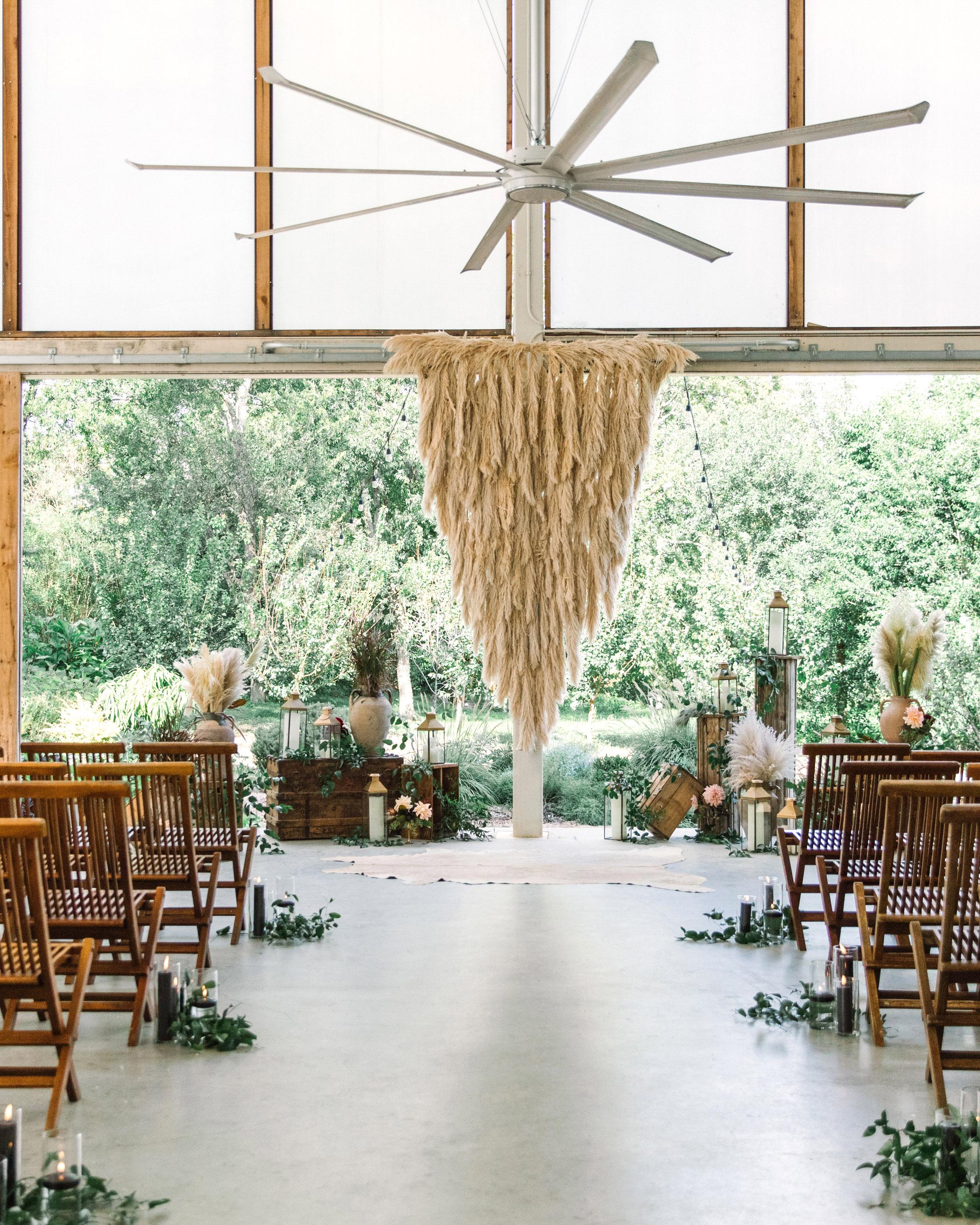 wedding ceremony hanging decor
