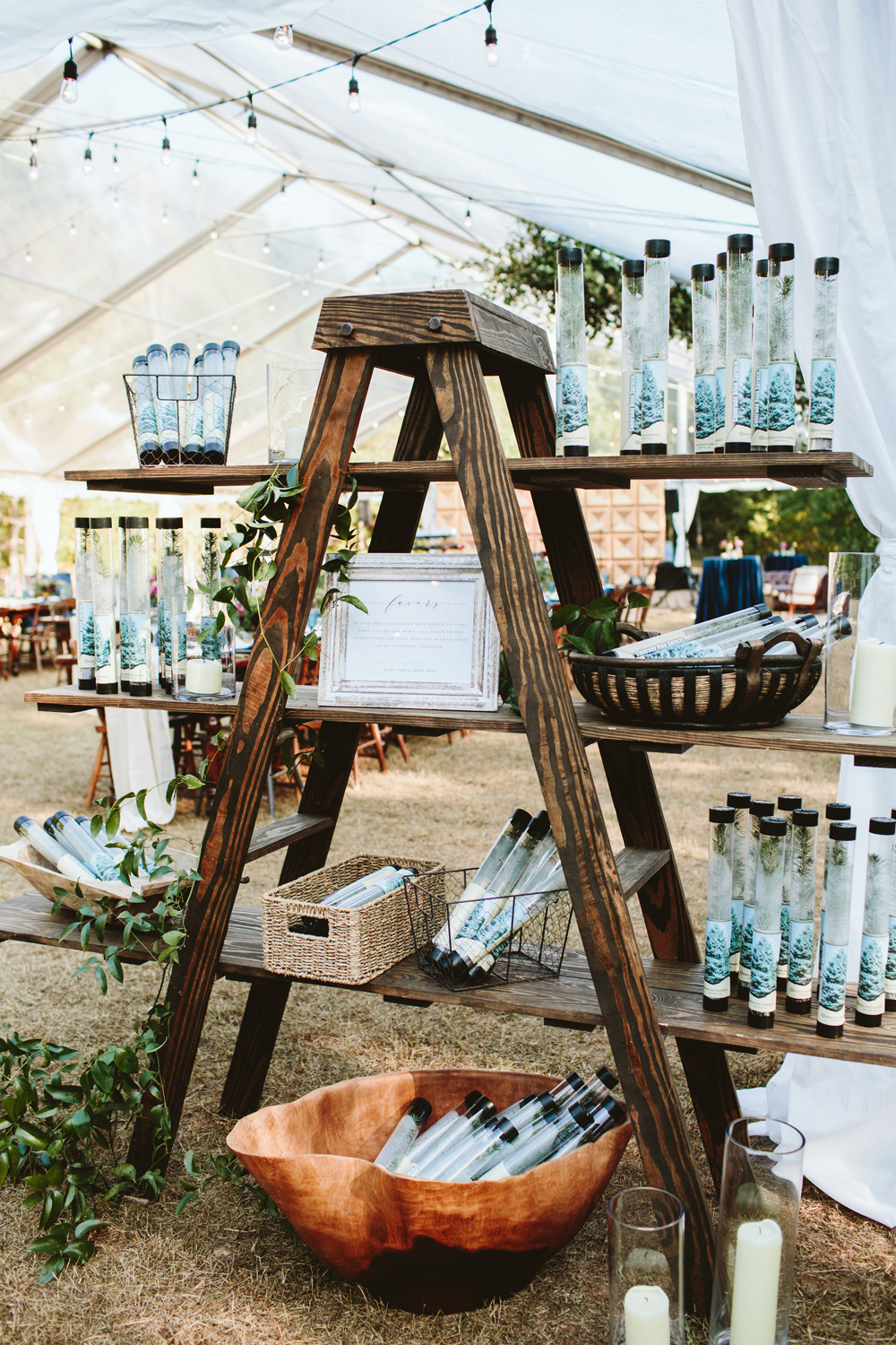 Rustic Favors and Display