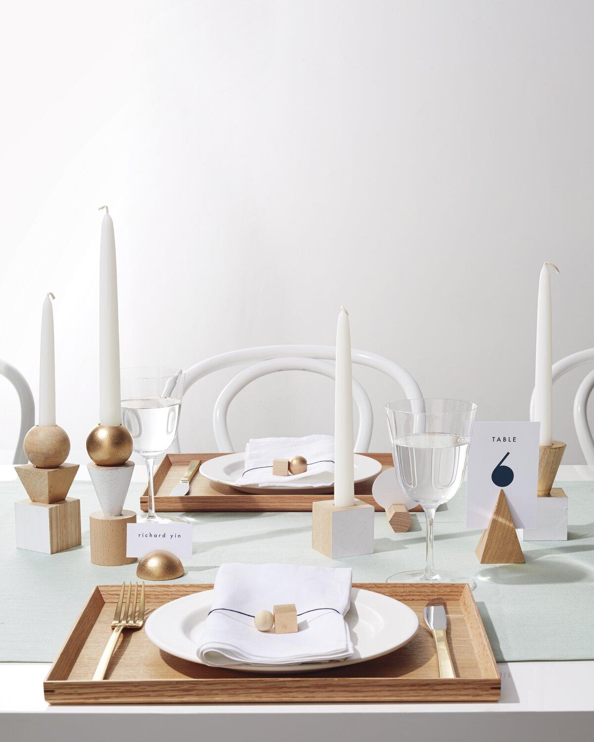Geometric Candle Sticks