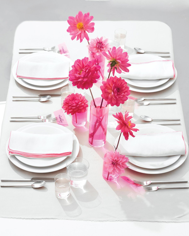 Pink Vinyl Centerpieces