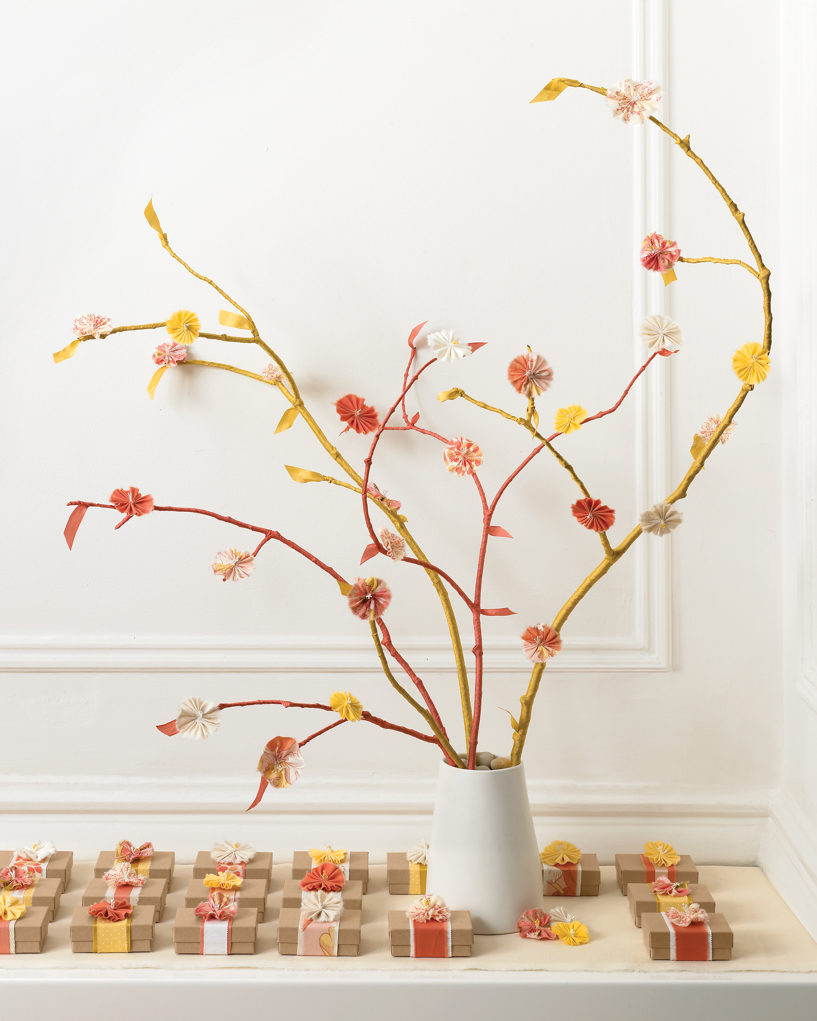 Wrapped Branches Centerpiece