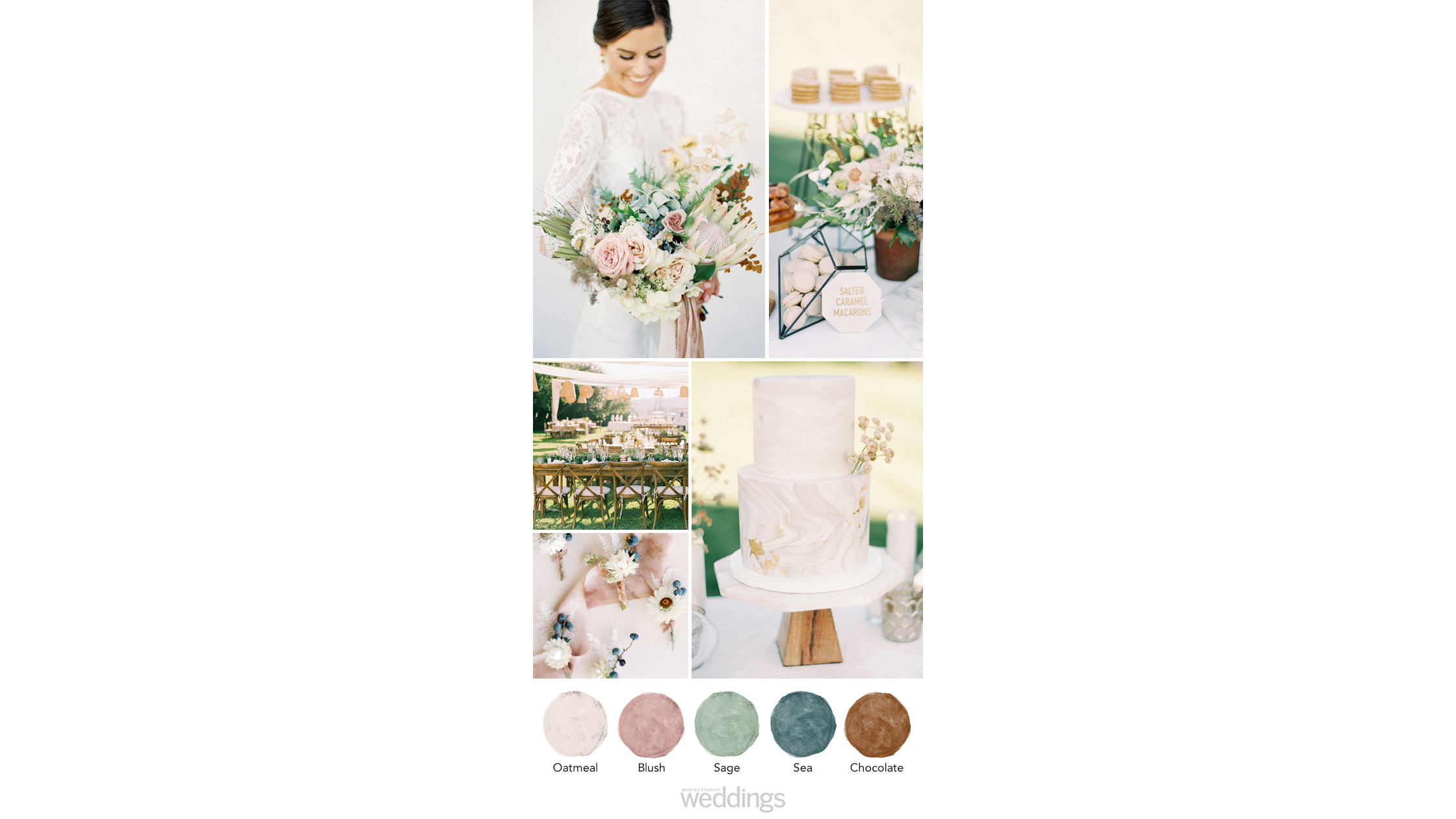 bohemian earthy wedding color palette ideas