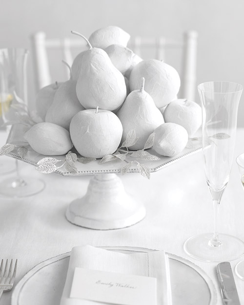 White Fruit Centerpiece