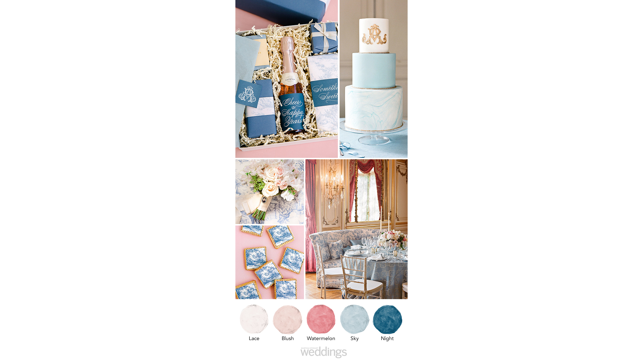 classic pink nave wedding color palette ideas