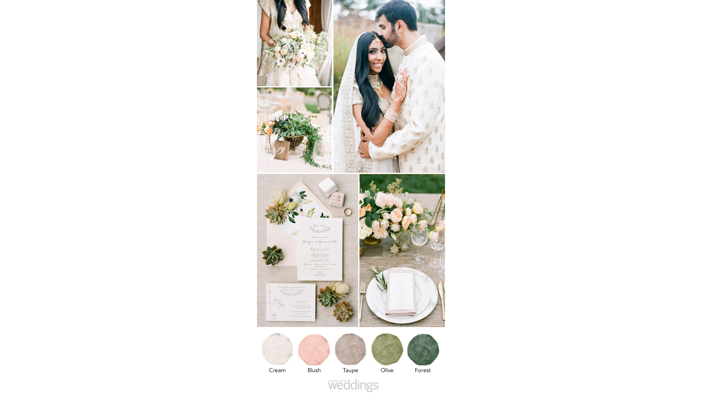 natural hues wedding color palette ideas