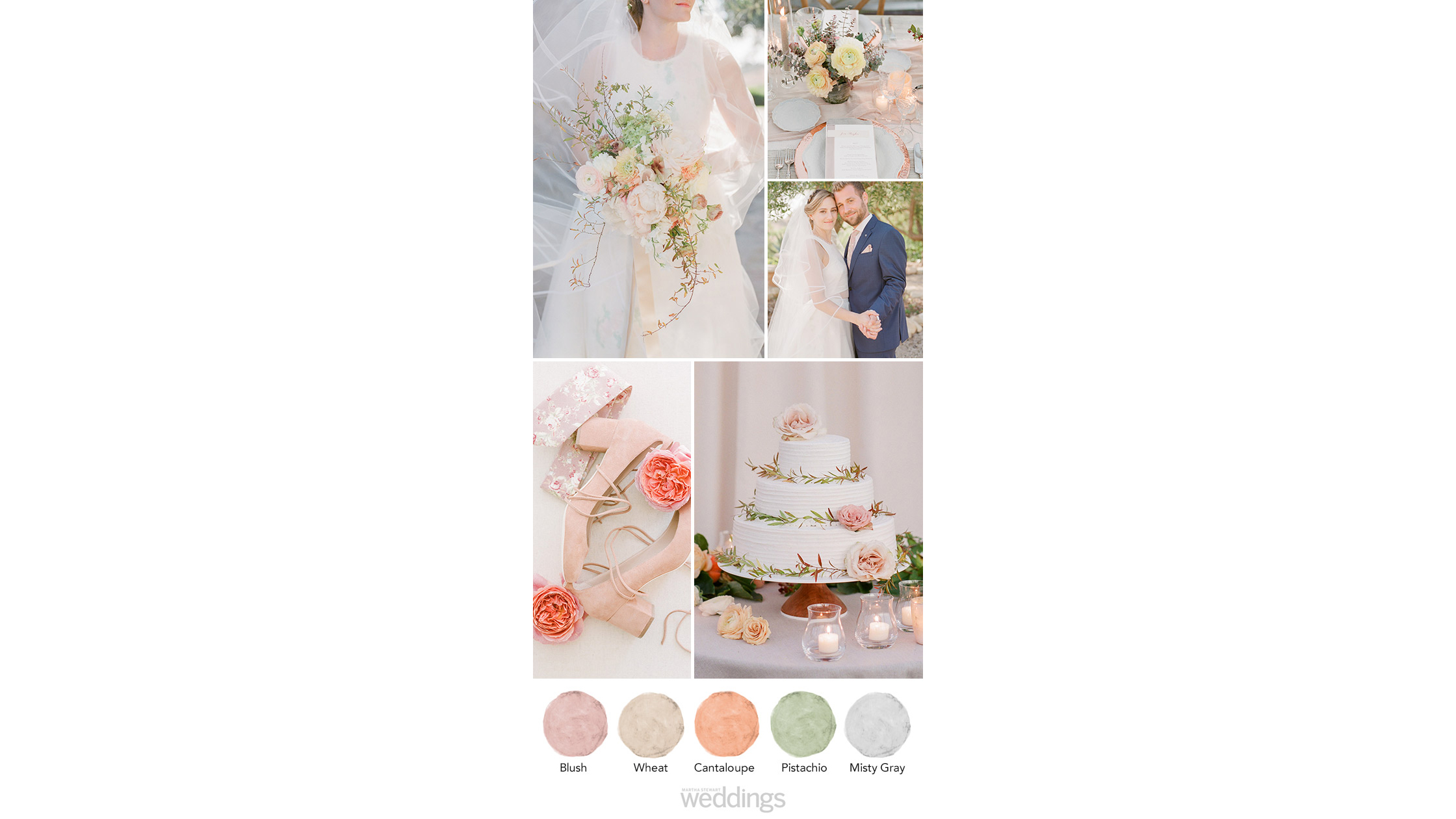 blush gray wheat wedding color palette ideas