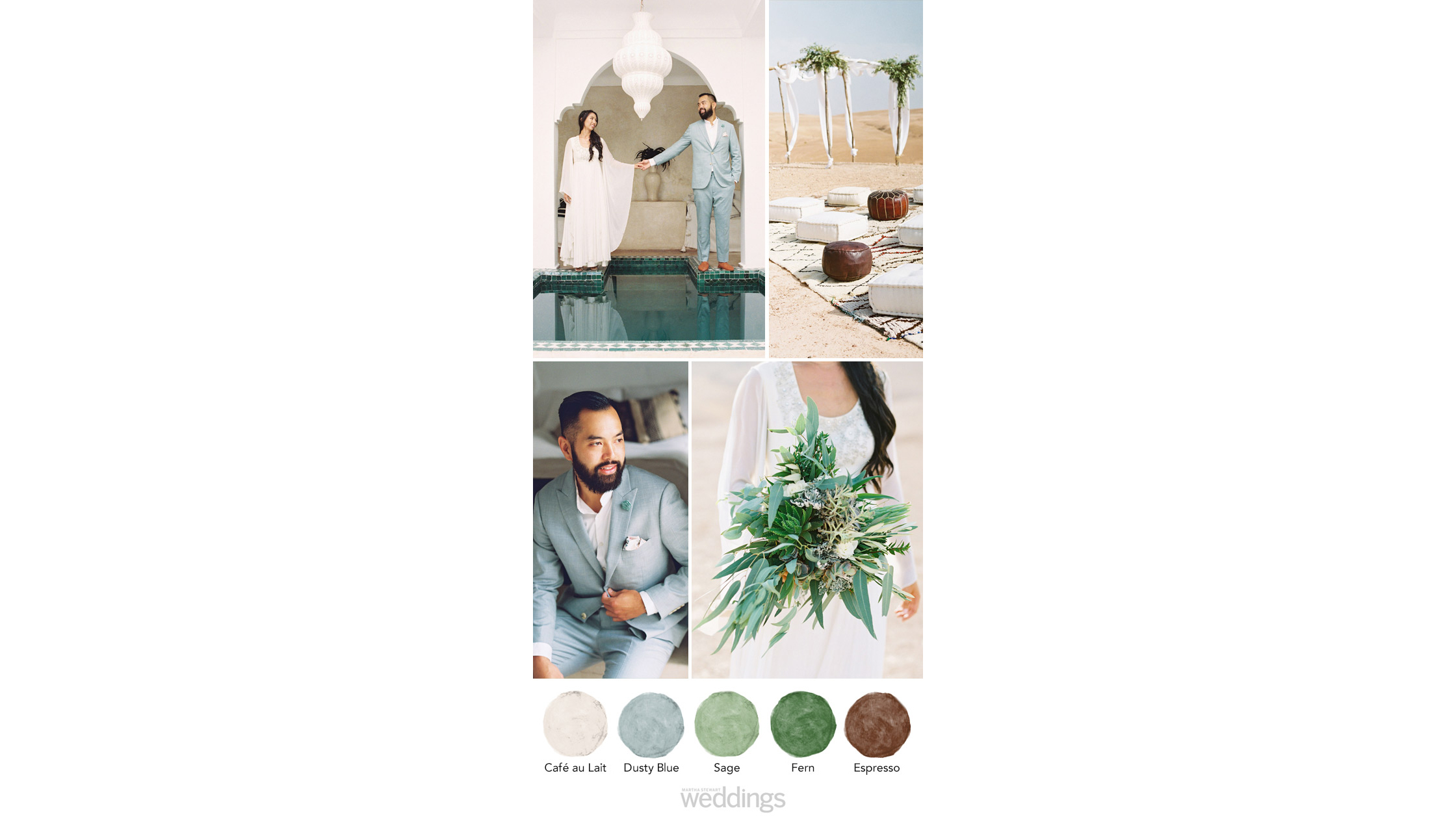 dessert hues wedding color palette ideas
