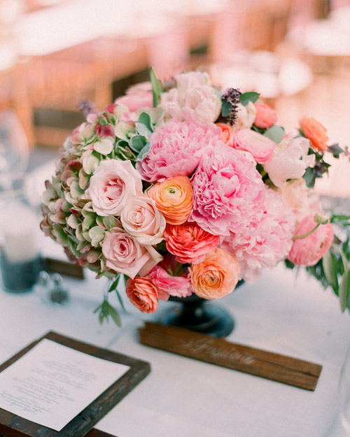 Pink-and-Peach Centerpiece