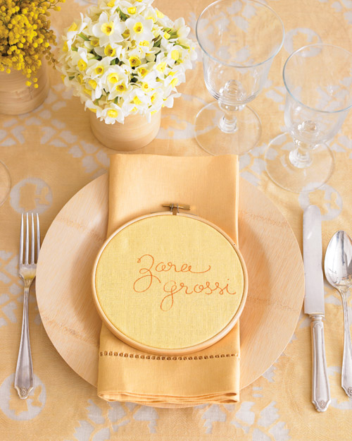 Embroidered Place Card