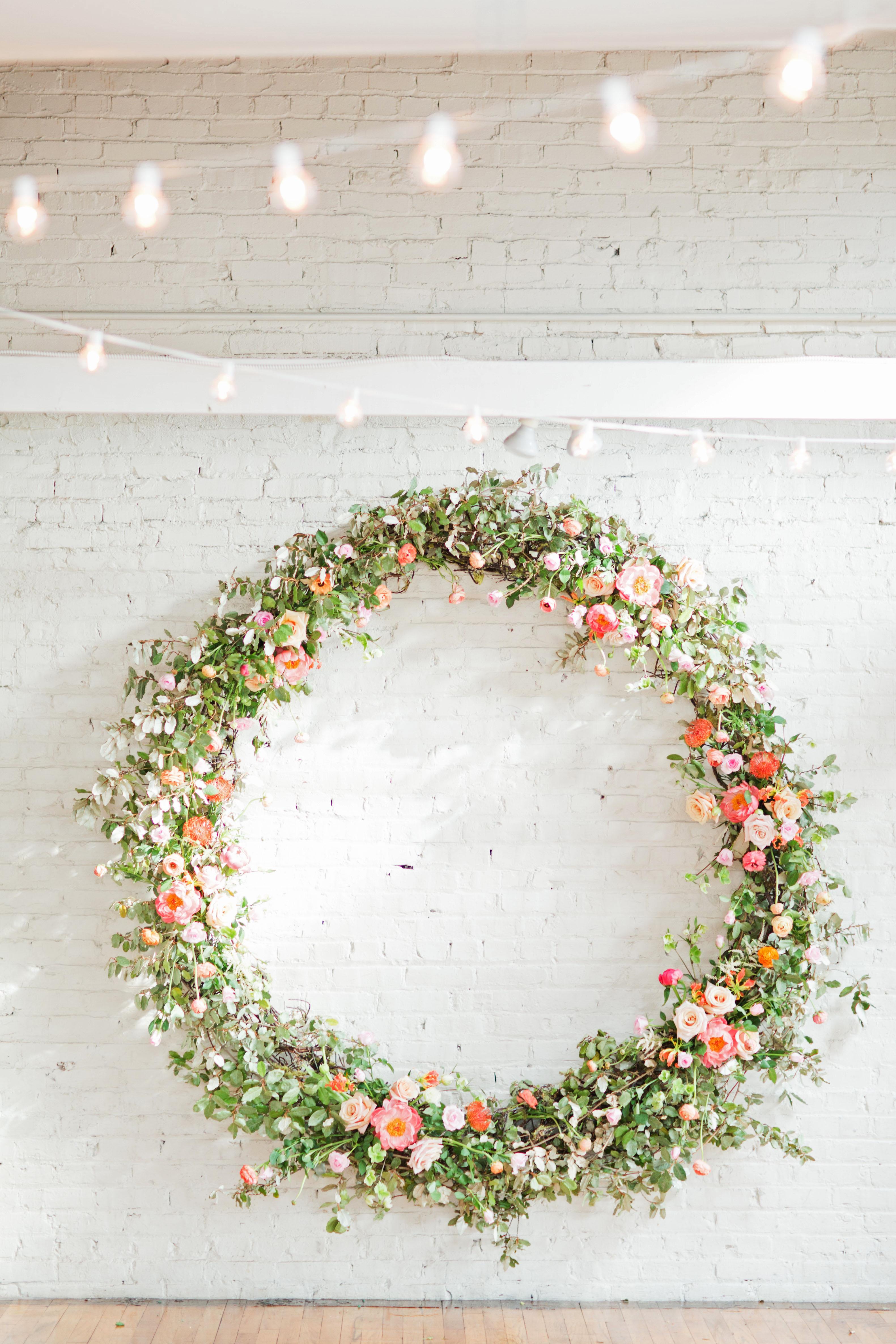 spring wedding wreath