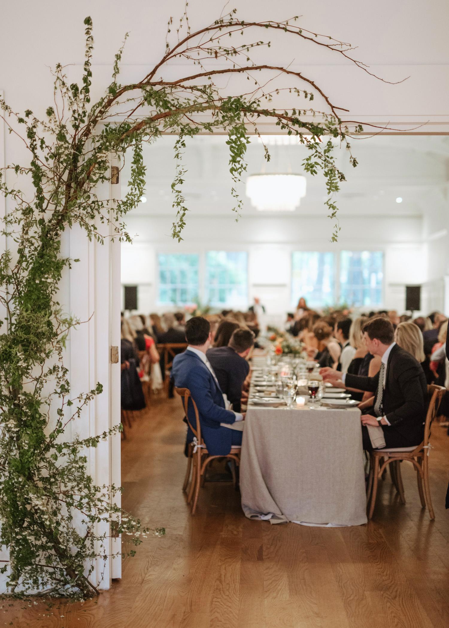 spring wedding large reception