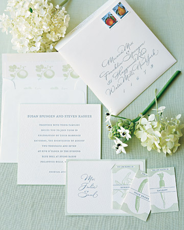 White Summer Wedding Invitations