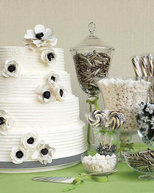 White and Black Dessert Bar