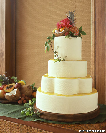 Tropical Wedding Cake with Coconut and Fruit