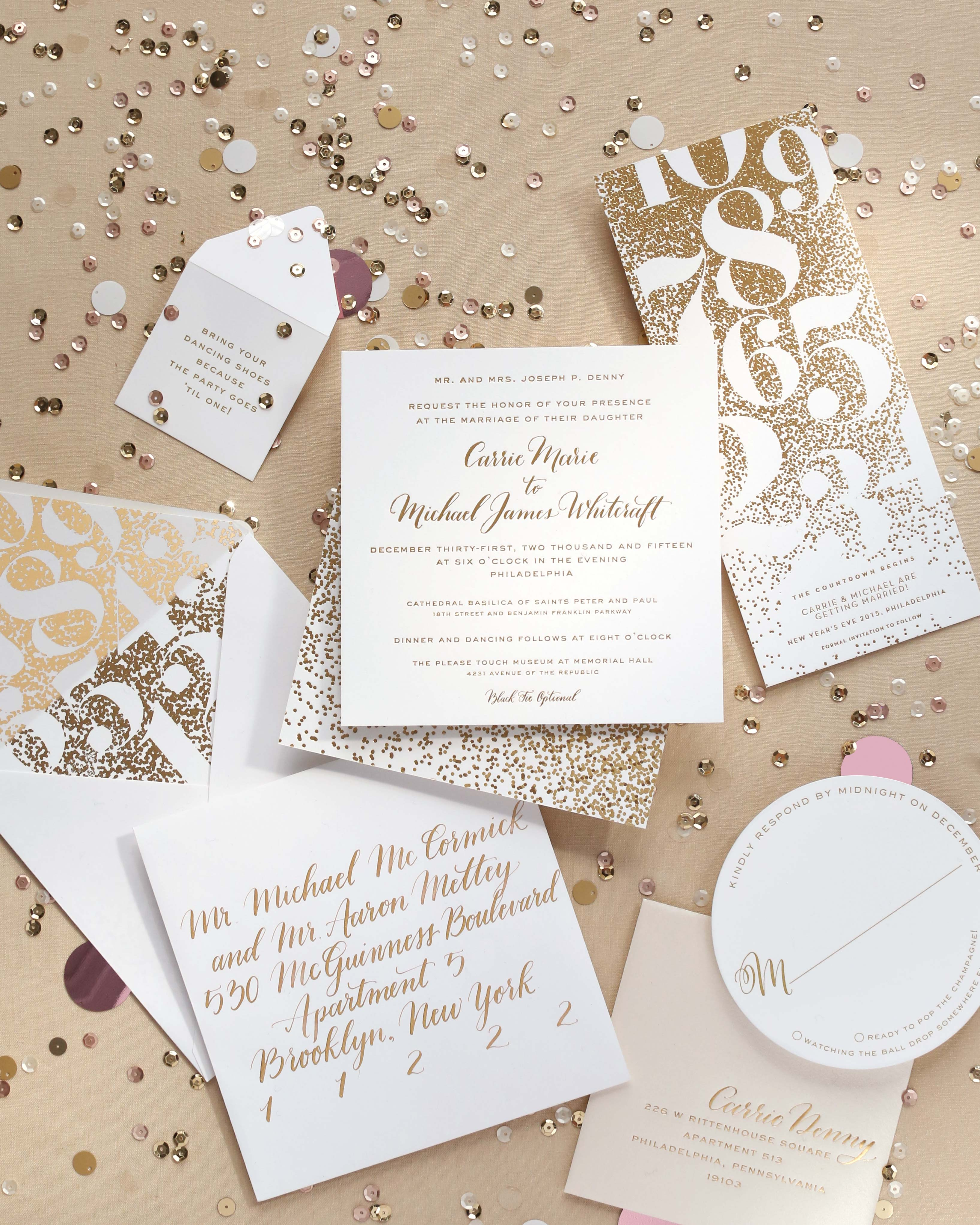A Metallic Stationery Suite