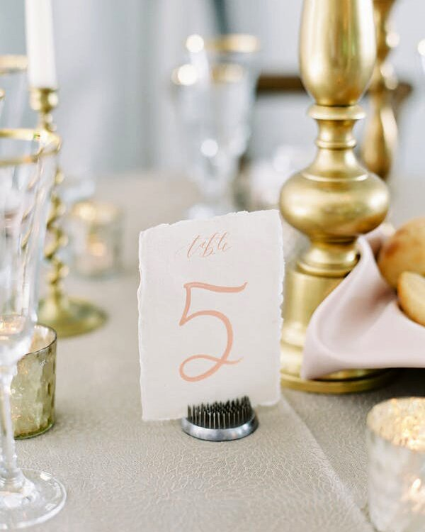 Deckle-Edged Table Numbers