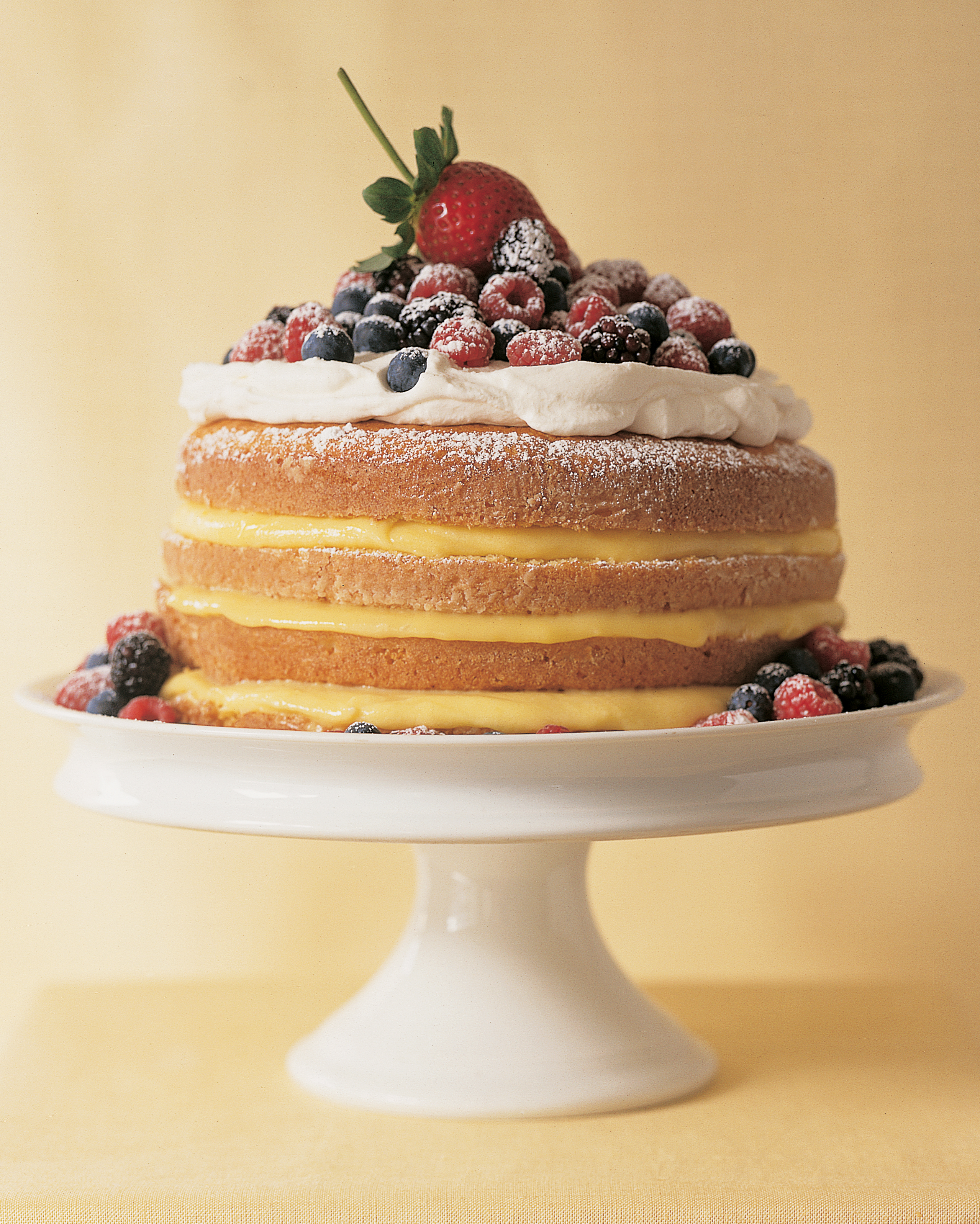 Wedding Cake with Berries, Grapes, Figs, and Pears