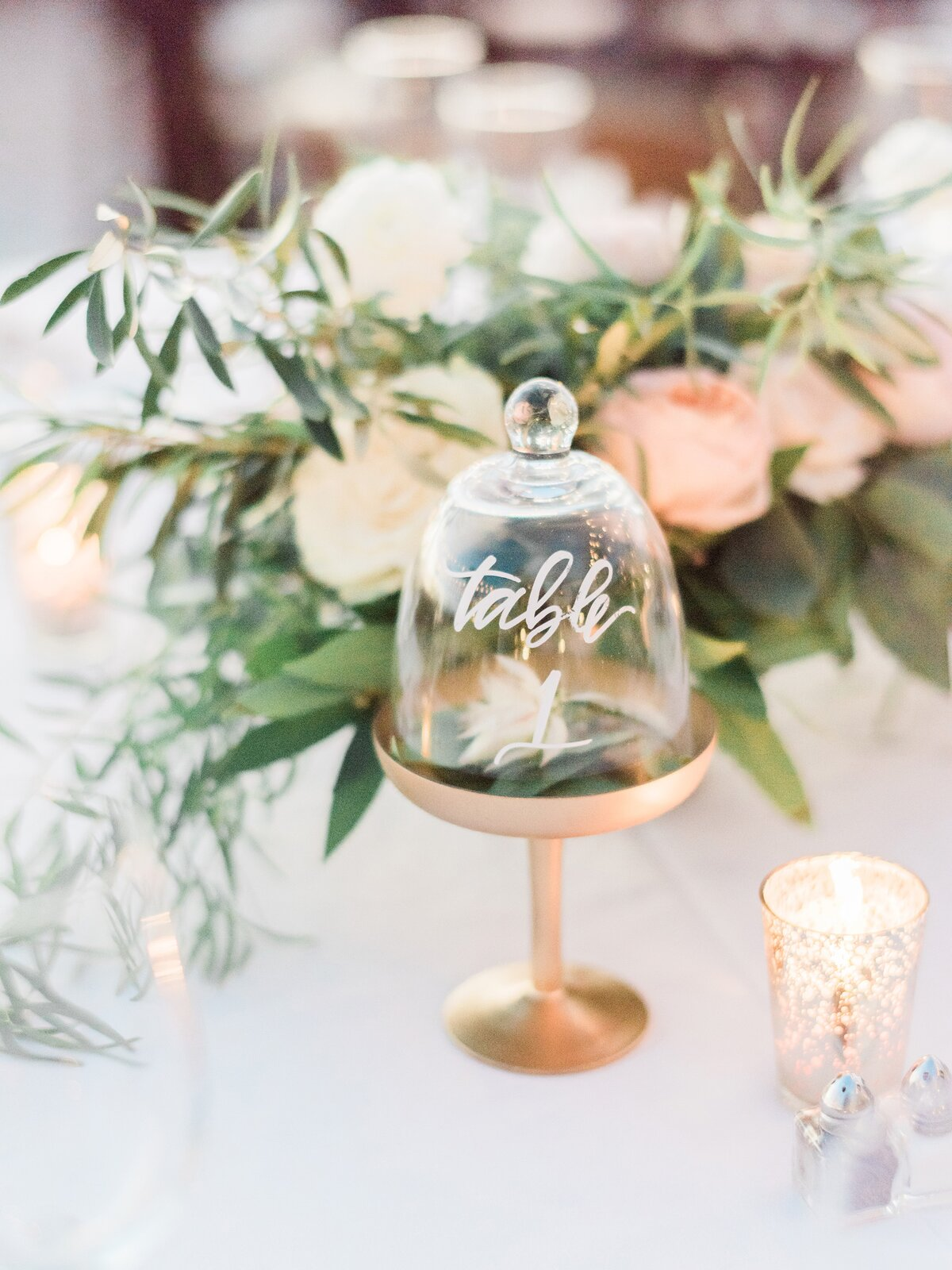 Cloche Table Numbers