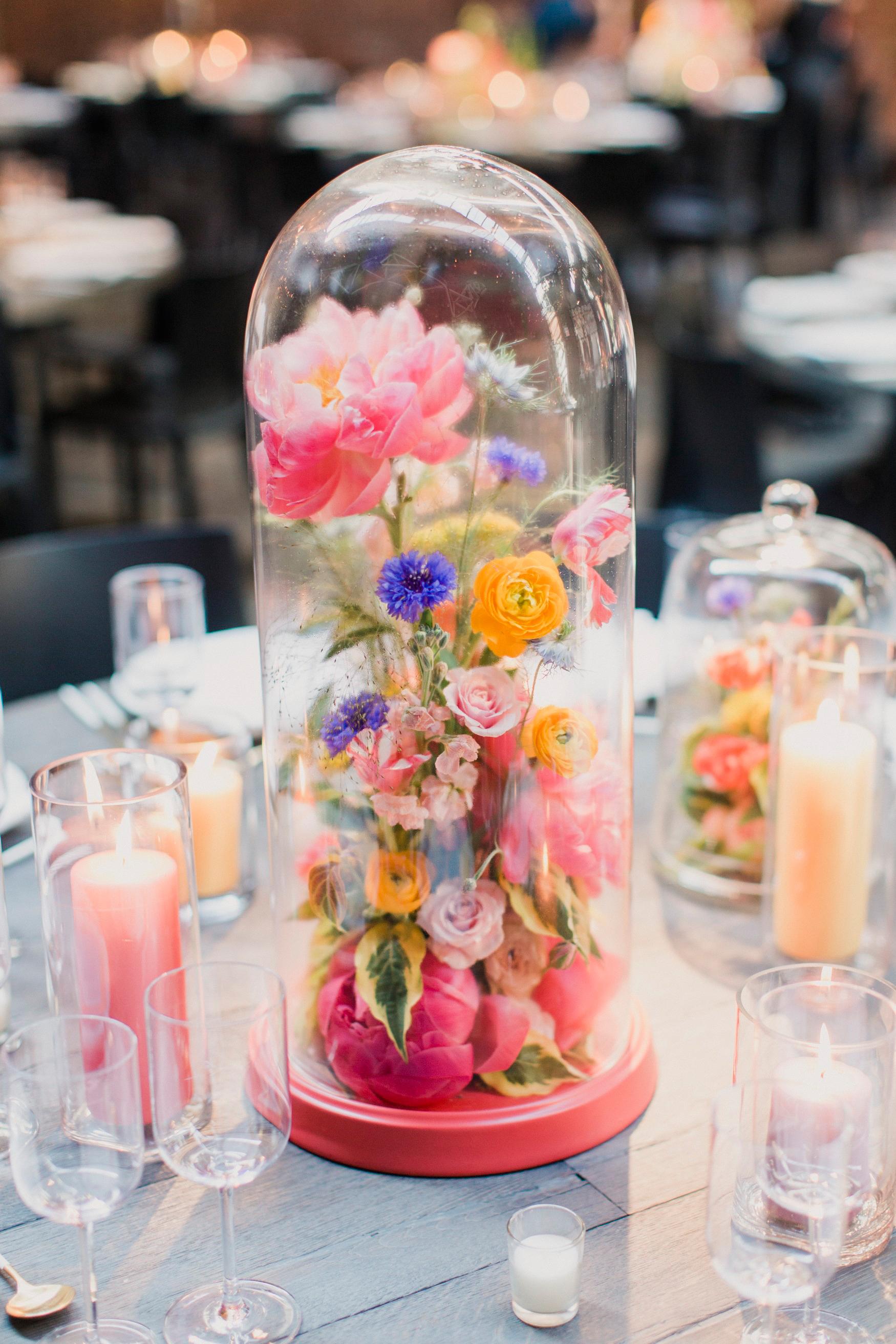 risa ross wedding brooklyn new york centerpiece