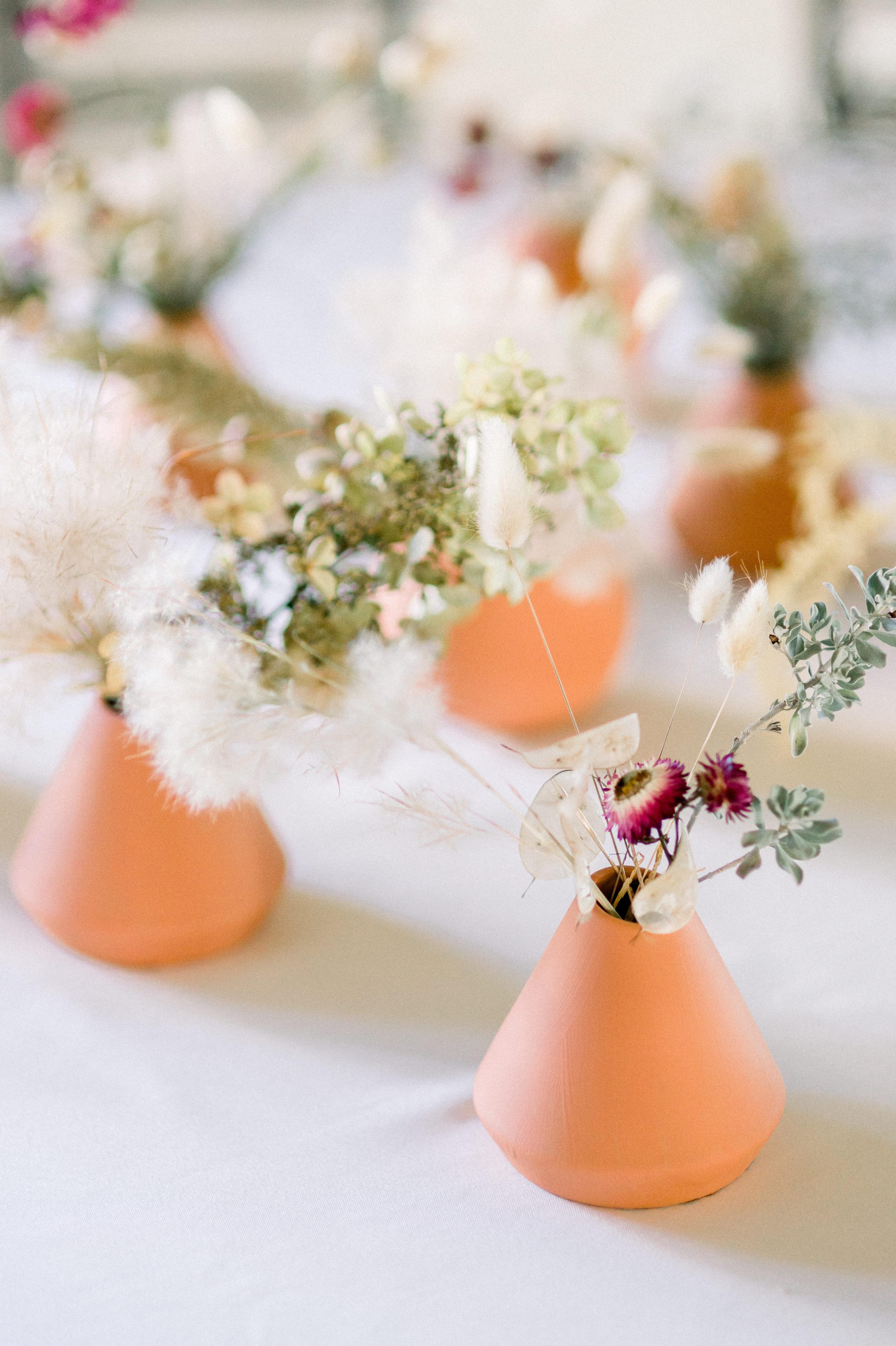 Cone Shaped Modern Wedding Centerpiece