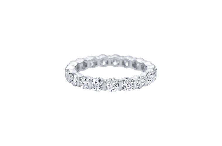 engagement ring settings bar diamonds jewelry