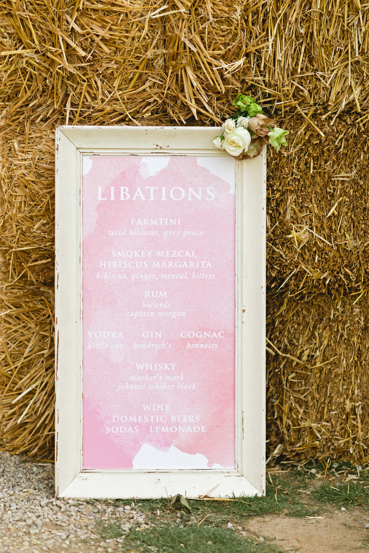 brittany craig wedding cocktails signage