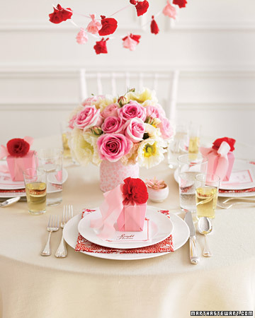 Pink and Poppy Table Setting