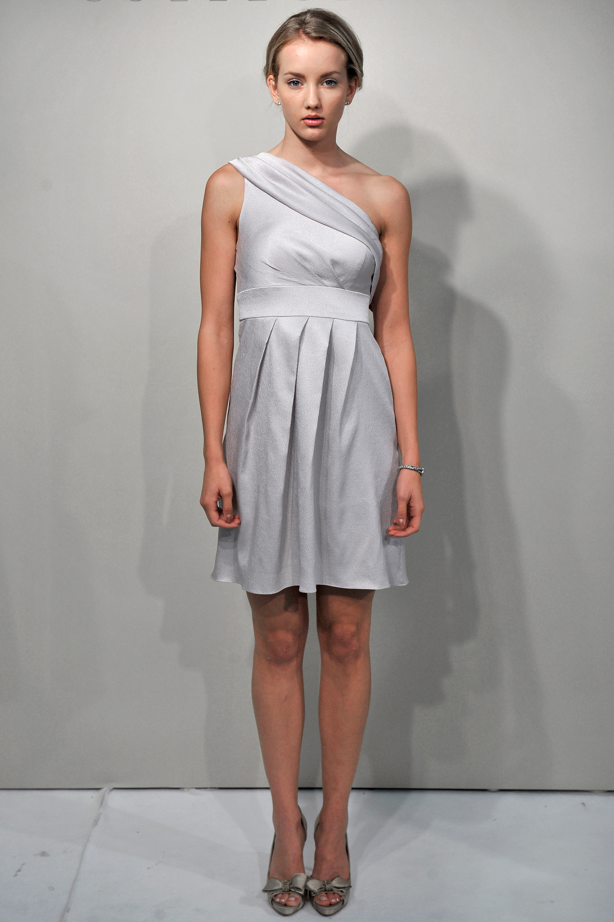 Short Gray Bridesmaid Dress