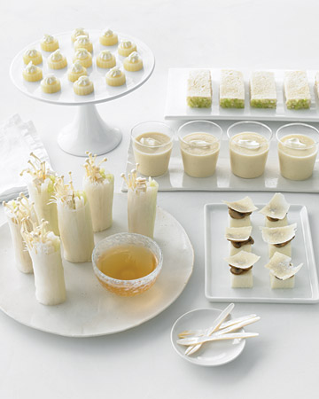 White Wedding Menu
