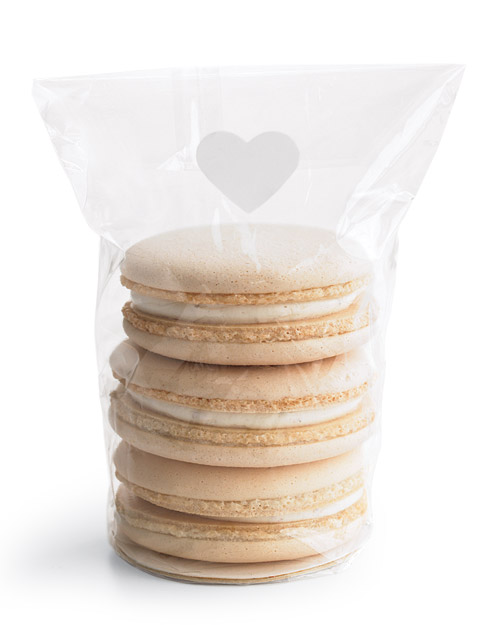 White Macaroon Wedding Favors