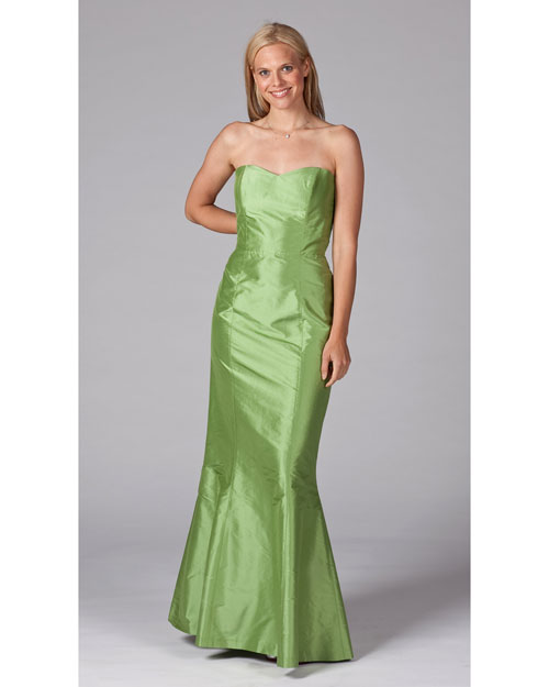 Floor-Length Green Bridesmaid Dress