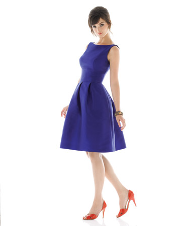 Bright-Blue A-Line Dress