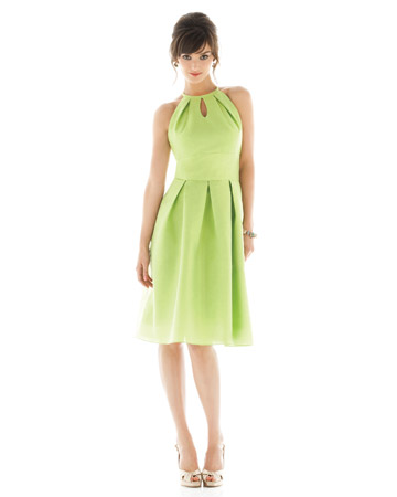 Light-Green Halter Dress