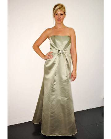 Long Sage-Green Dress