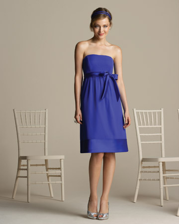 Bright-Blue Strapless Dress