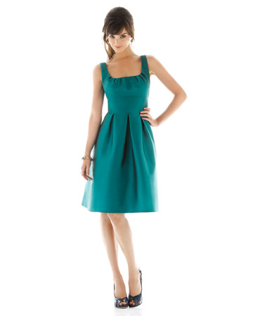 Teal Scoop-Neck Dress